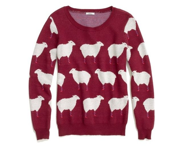 I'm probably be too chicken to buy this Madewell counting sheep sweater ($108) for myself, but if I'm sure if I found it under the tree, it would become a wardrobe staple. — Annie Scudder, editor