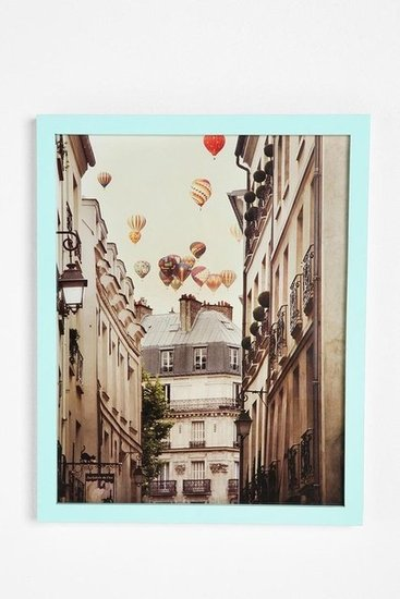 I'd hang this Irene Suchocki Balloons Over Paris Framed Print ($54) on my wall in a second. — Annie Scudder, editor