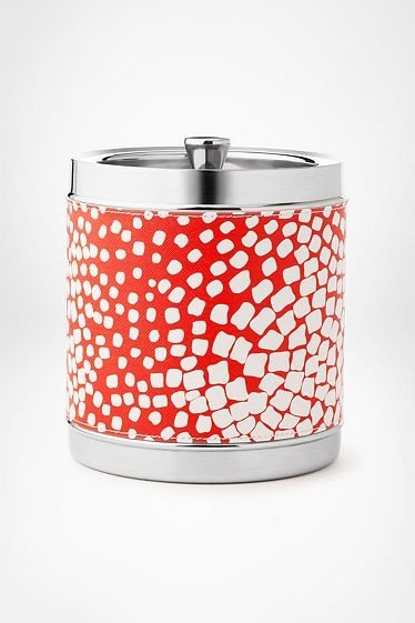 I love a good ice bucket, like this Diane von Furstenburg square dot version ($80). — Annie Scudder, editor