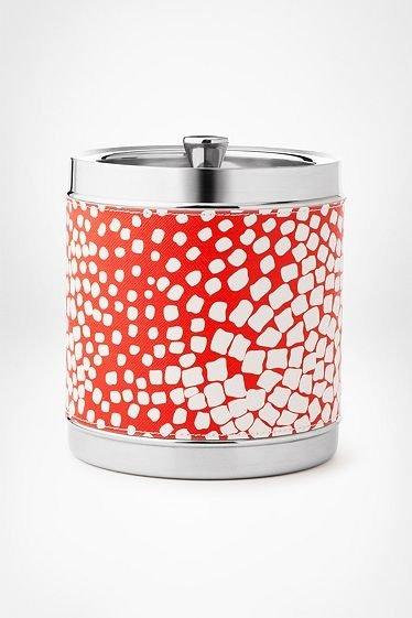 I love a good ice bucket, like this Diane von Furstenburg square dot version ($80). — Annie Scudder, editor