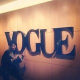 Alexa Chung paid a visit to Vogue HQ. Source: Instagram user chungalexa