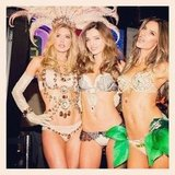 Miranda Kerr posed with fellow Angels Doutzen Kroes and Alessandra Ambrosio. Source: Instagram user mirandakerrverified