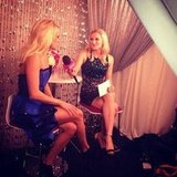 Our own PopSugar editor Linday Miller chatted with Carrie Underwood backstage. Source: Instagram user popsugar
