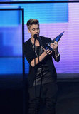 Justin Beiber wore black at the American Music Awards in LA.