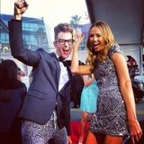 Brad Goreski and Stacy Keibler did a happy dance on the red carpet. Source: Instagram user mrbradgoreski
