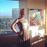 Pink showed off her look before hitting the red carpet.  Source: Instagram user pink