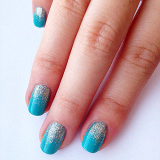 How to Do Glitter Ombré Nail Art