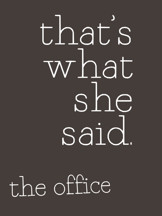 The Office Quote Poster ($15)