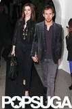 In February 2010, Anne Hathaway and Adam Shulman held hands after a party in LA.