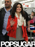Selena Gomez gave a wave at a Kmart outside of NYC.