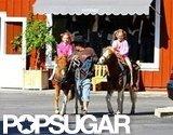 Ben Affleck and Jennifer Garner's daughter went horseback riding at a farmers market in LA.