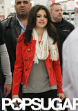Selena Gomez arrived at a Kmart to promote her new line.