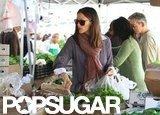 Jennifer Garner stepped out at a farmers market in LA.