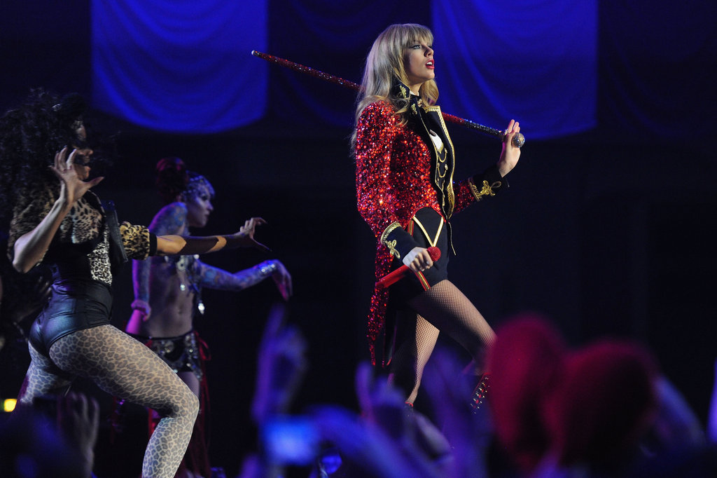 Taylor Swift performed on stage at the MTV EMAs in Frankfurt.