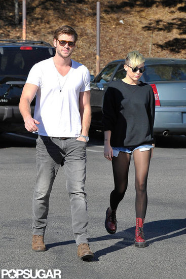 Miley Cyrus and Liam Hemsworth Break From Wedding Planning For Coffee