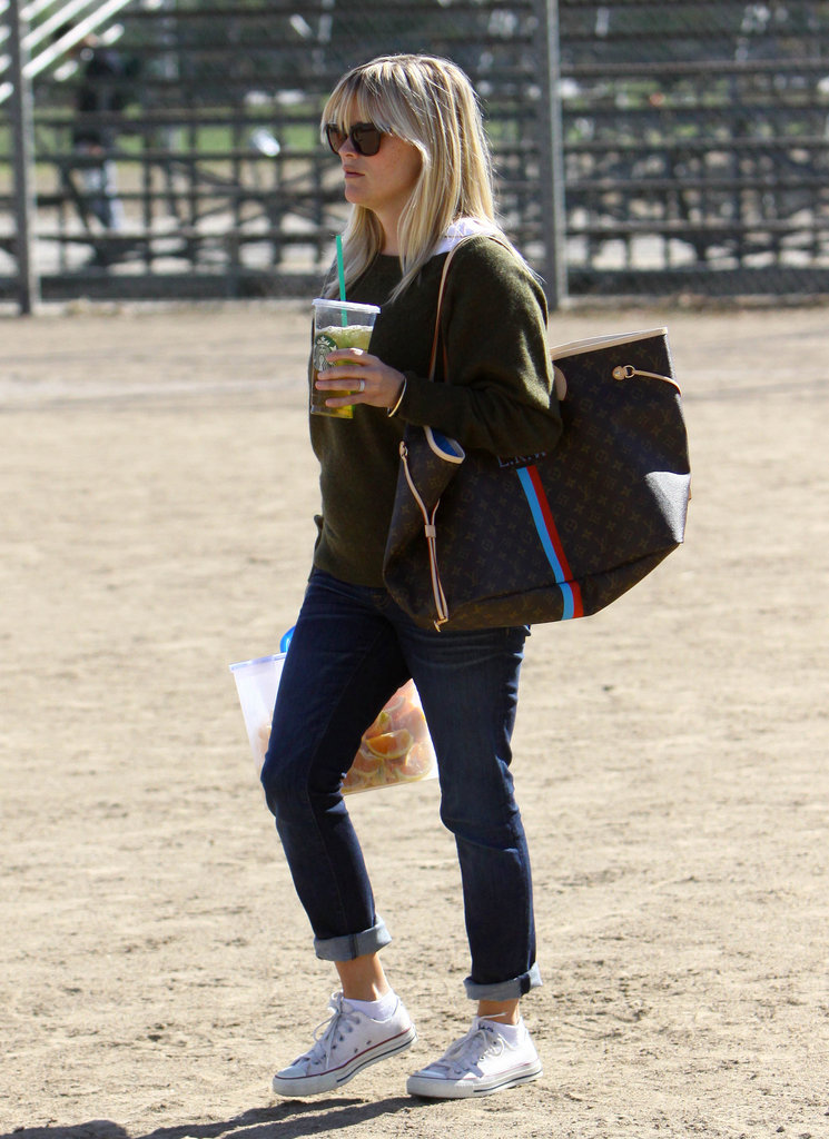Reese Witherspoon brought snacks to Deacon's game.