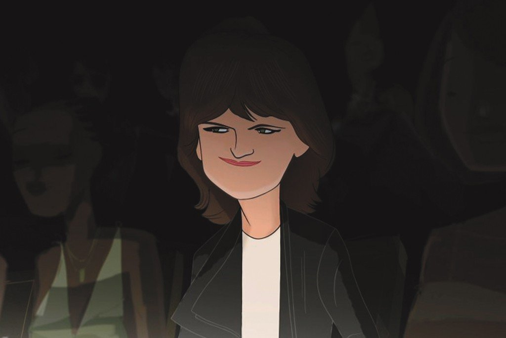 Cathy Horyn is pictured here sporting her usual sartorial smirk.