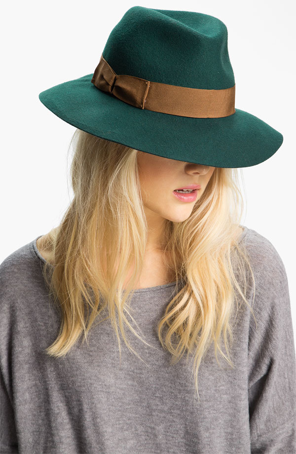 No bohemian girl's wardrobe is complete without a wide-brimmed wool hat, and Eugenia Kim's Florence Wool Hat ($88) comes in a gorgeous shade of jade.