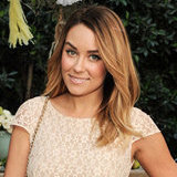 Lauren Conrad Celebrates ShoeMint in a Nude Lace Dress