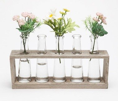 Flowers get a science lesson with these fun laboratory vases ($24).