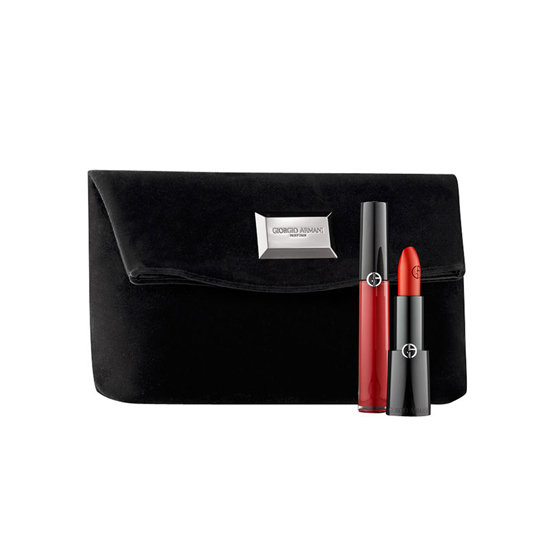 The Giorgio Armani Red Lip Set ($48) comes with a coordinating lipstick and lip gloss, all encased in a velvet bag that can double as a clutch. Besides, you can't go wrong with a classic crimson lipstick.