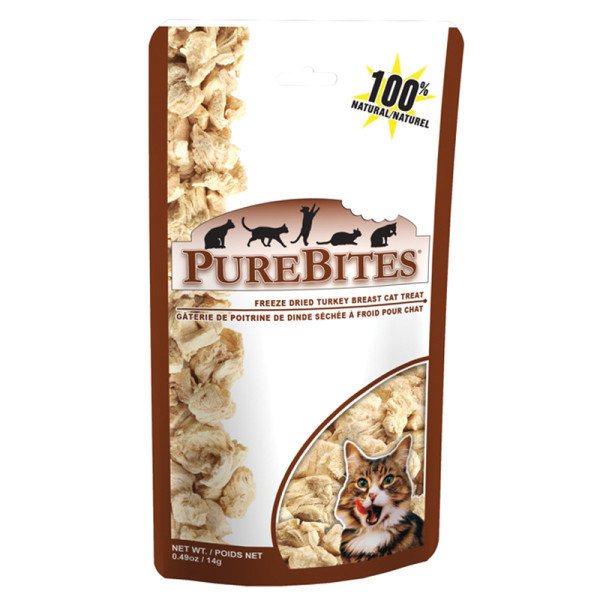 PureBites Freeze-Dried Turkey Breast Cat Treats ($3) are freeze-dried to lock in the flavor, aroma, and texture of real turkey meat, and at less than one calorie per treat, your cat can indulge guilt-free.