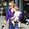 January Jones Shopping With Son Xander | Pictures