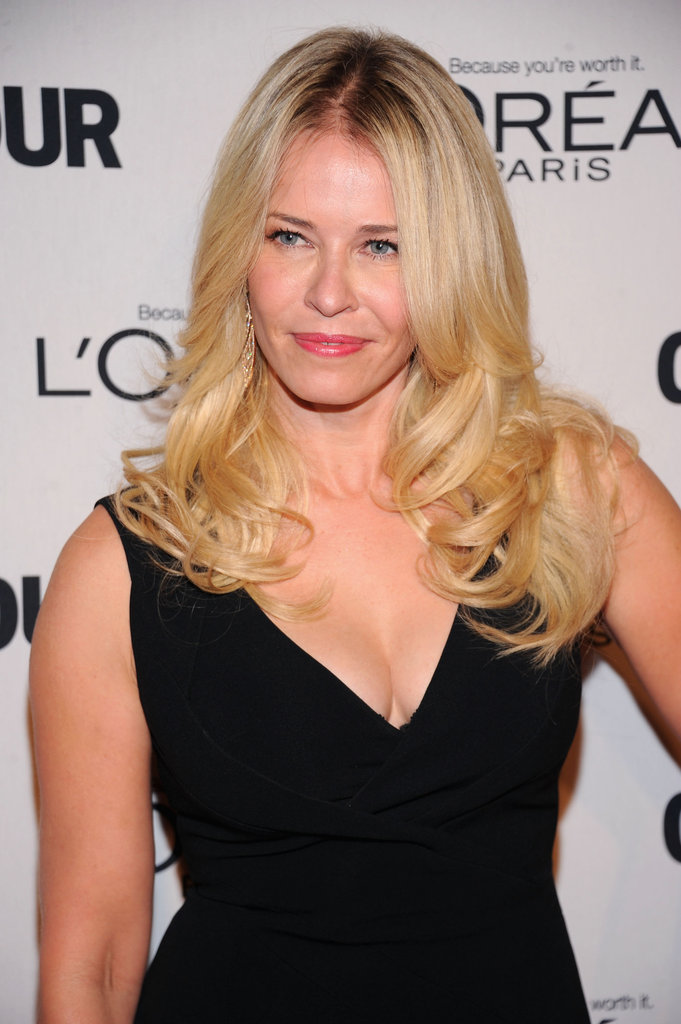 Chelsea Handler wore a black dress at the Glamour Women of the Year Awards in NYC.