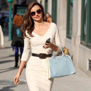 Miranda Kerr Wears a Tight White Dress in NYC | Pictures