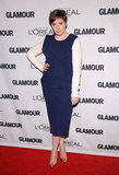 Lena Dunham took the sophisticated route in a two-tone Roksanda Ilincic sheath, but added a little whimsy with a pair of gold pumps.