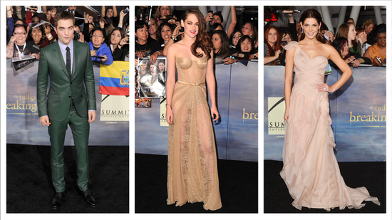 Kristen Stewart and Ashley Greene Go Nude on the Red Carpet