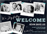 Shutterfly Welcomed With Love Boy Birth Announcement