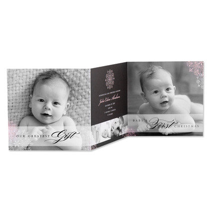 Tiny Prints' Classy Snowflake Winter Birth Announcements