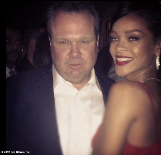 Rihanna met her new BFF, Eric Stonestreet. Source: Eric Stonestreet on WhoSay