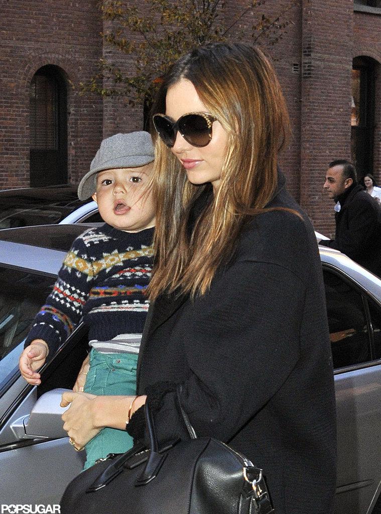 Miranda Kerr Sees the City Sights With Flynn Bloom