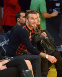 David Beckham nabbed a front-row seat at the game.
