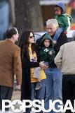 Sandra Bullock held Levi McConaughey in New Orleans.