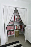 A Closet Behind Curtains