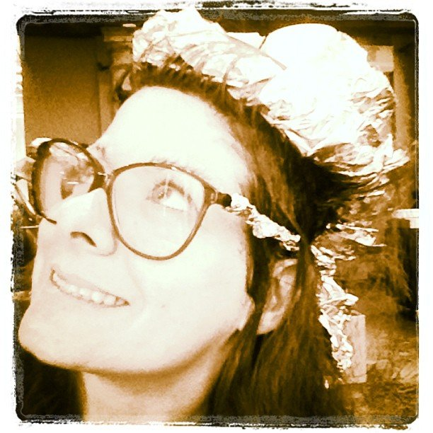 Debra Messing showed off her au naturel look. Source: instagram user therealdebramessing