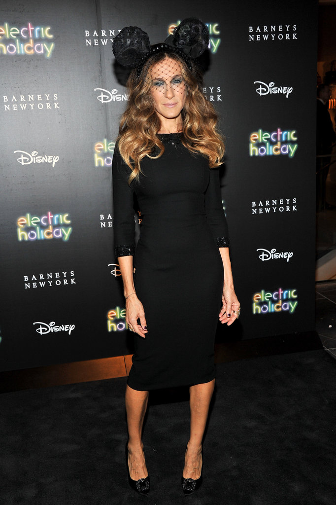 Sarah Jessica Parker wore a designer pair of mouse ears.