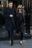 Jamie Hince and Kate Moss walked together in London.