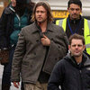Brad Pitt Filming World War Z Reshoots