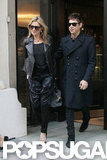 Kate Moss and Jamie Hince left The Wolseley in London.