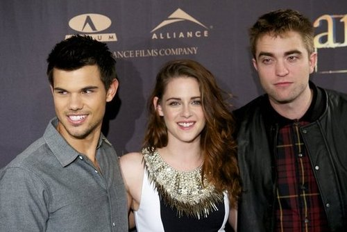 Taylor Lautner, Kristen Stewart and Robert Pattinson were in Madrid to promote Breaking Dawn — Part 2.
