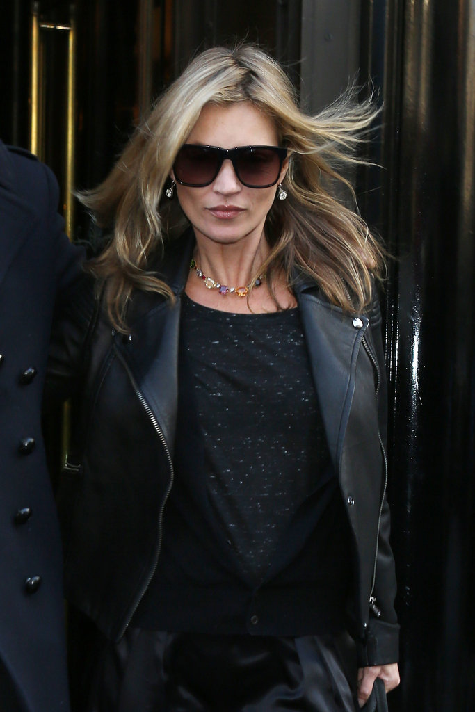 Kate Moss left The Wolseley in London.