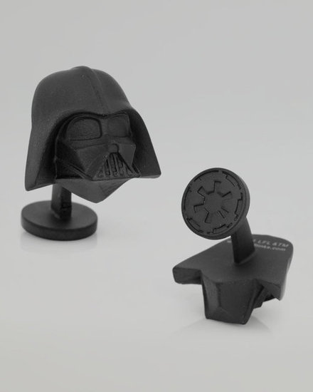 Rule with an iron fist when this pair of Darth Vader Cuff Links ($125) gets snapped on.