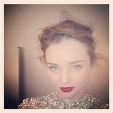 Miranda Kerr showed off a sultry makeup look. Source: Instagram user mirandakerrverified