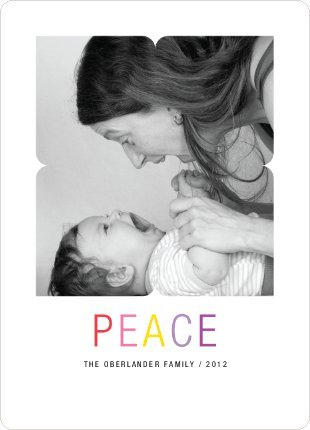 Paper Culture Peace and Love Holiday Photo Cards
