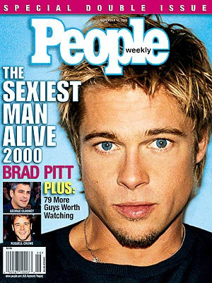 Some actors have been crowned Sexiest Man Alive not once, but twice: Brad Pitt, George Clooney, Johnny Depp and Richard Gere (his first time was in 1993 when the magazine switched Sexiest Man for Sexiest Couple; he was then-dating Cindy Crawford). Hugh Jackman is the second Australian to have received the honour, in 2008.