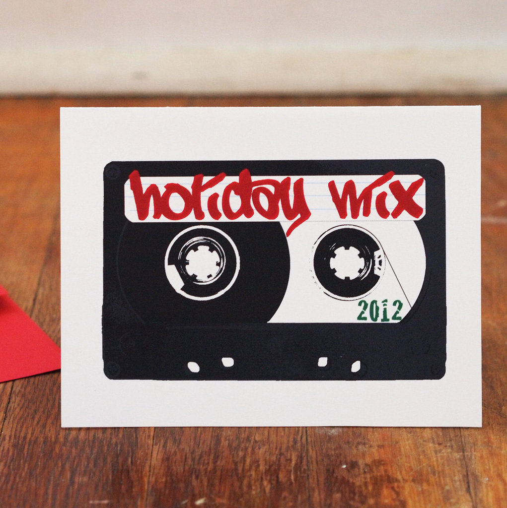 Mixtape Holiday Cards ($25)